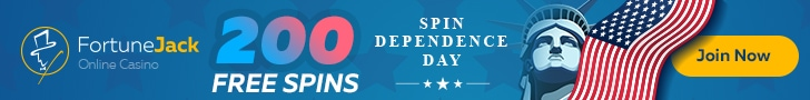 FortuneJack Happy 4th of July 200 FREE Spins