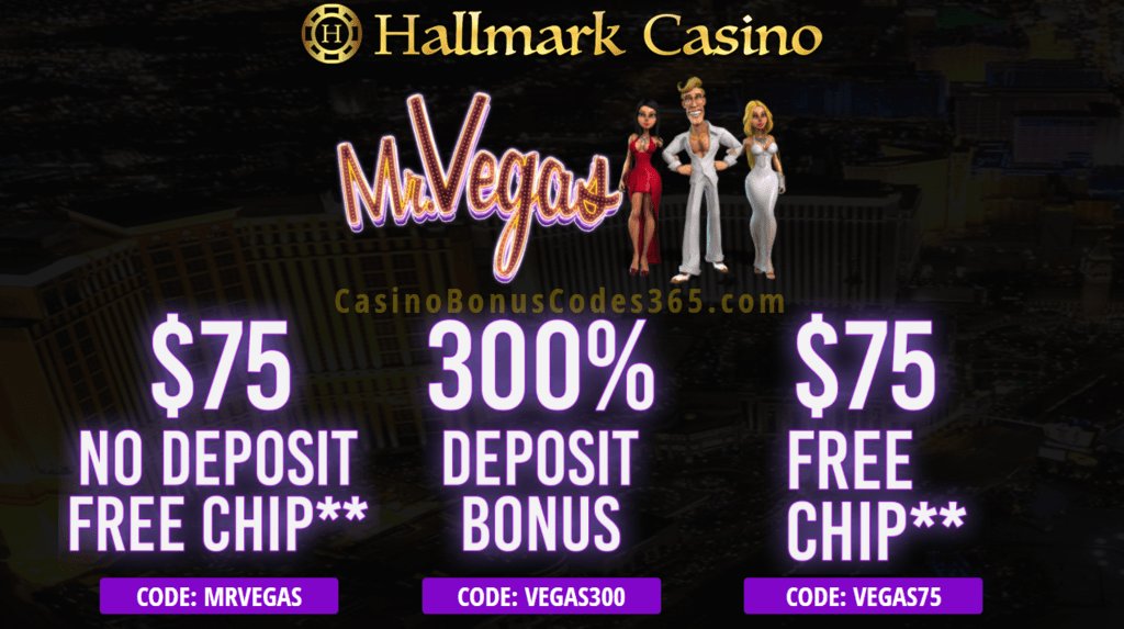 Hallmark Casino Mr Vegas Special Deal Casino Bonus Codes 365