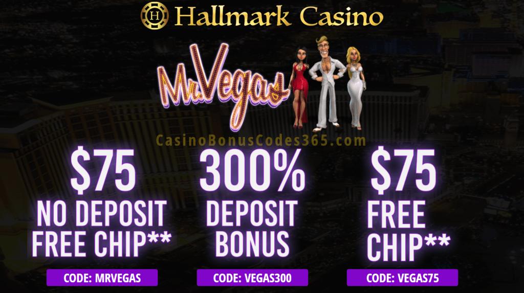 Hallmark Casino Mr Vegas Special Deal Casino Bonus Codes 365