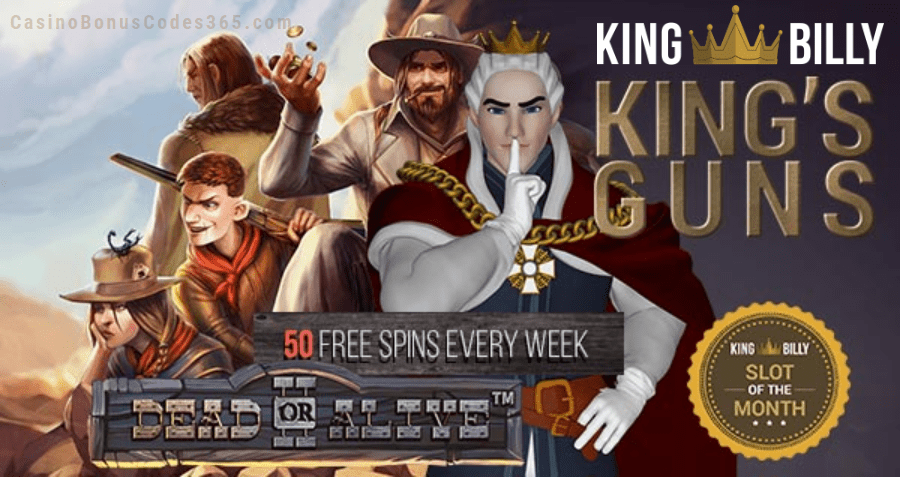 King Billy Casino July Slot of the Month
