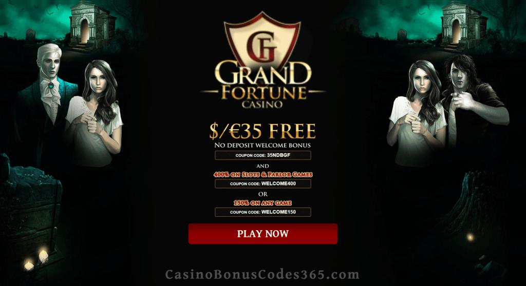 Grand Fortune Casino 35 Free Chip Plus 400 Match Bonus Welcome Package Casino Bonus Codes 365