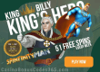 King Billy Casino September Slot of the Month Betsoft Spinfinity Man