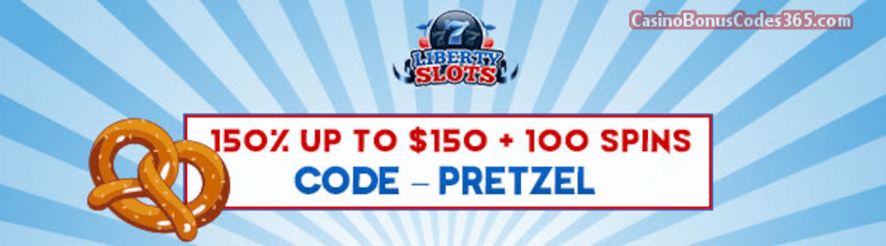 Liberty Slots 150% up to $150 Bonus plus 100 FREE WGS Triple 10x Wild Spins September Special Promo