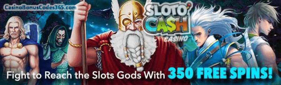 SlotoCash Casino 350 Slots Gods FREE Spins Pack