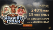 Slots Empire 240% Match Bonus plus 15 FREE Spins on RTG Trigger Happy New Players Sign Up Deal