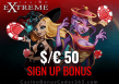 Casino Extreme $50 FREE Chip Sign Up Bonus