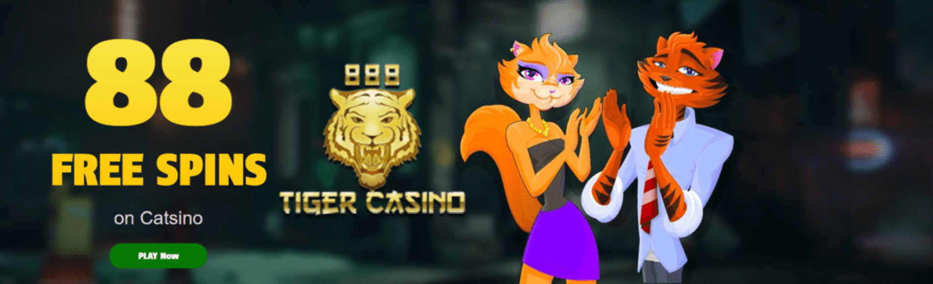 888 Tiger Casino 88 FREE Catsino Spins