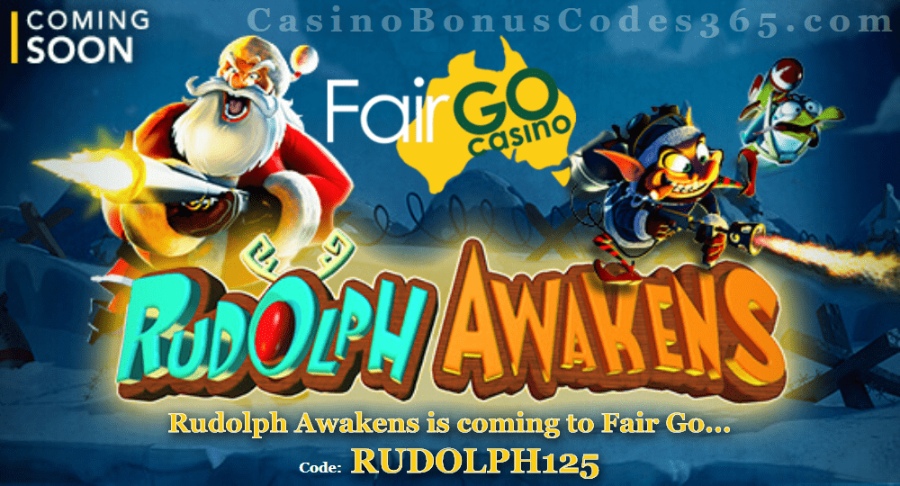 Fair Go Casino Rudolph Awakens New RTG Game Coming Soon
