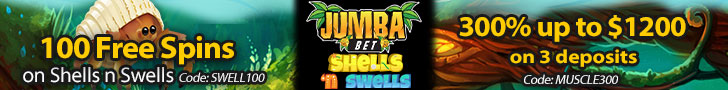 Jumba Bet 100 FREE Saucify Shells 'n Swells Spins plus 300% Match Exclusive Welcome Package