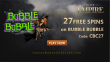 Slots Empire 27 FREE RTG Bubble Bubble Spins Exclusive Welcome Deal