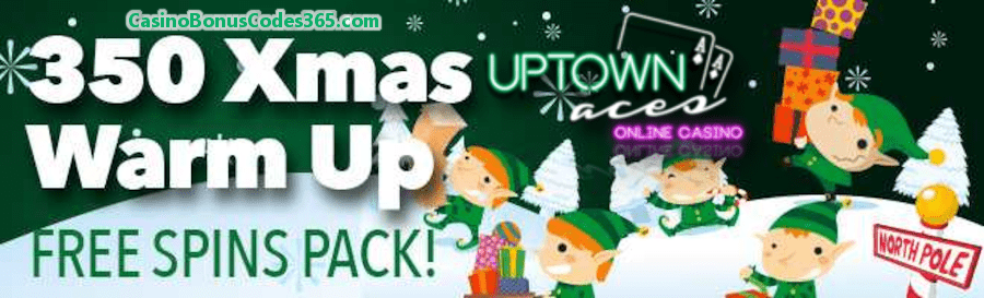 Uptown Aces 350 Slots FREE Spins Early Xmas Gifts Pack