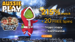 AussiePlay Casino 215% Match Bonus plus 20 FREE Spins on RTG Trigger Happy Exclusive Welcome Package