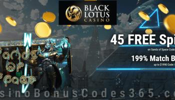 Black Lotus Casino 45 Free Band Outta Hell Spins Plus 319 Bonus