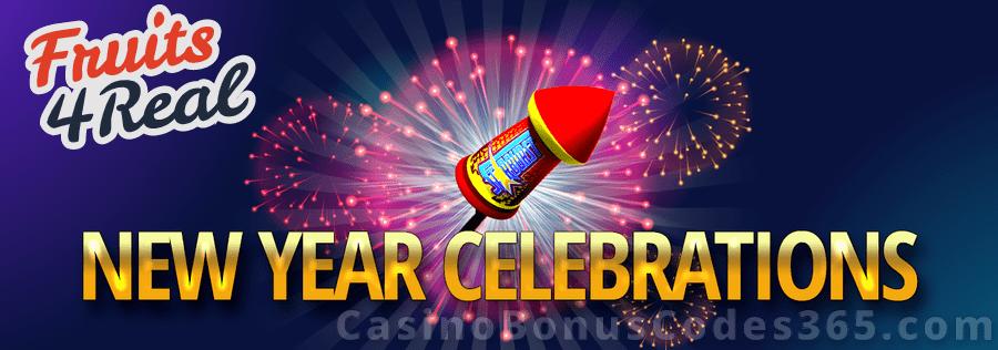 Fruits4Real New Year Celebration Bonus Betsoft Boomanji