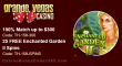 Grande Vegas Casino 150% up to $300 Bonus plus 25 FREE RTG Enchanted Garden II Spins Special Deal