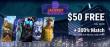 Jackpot Wheel $50 FREE Chip plus 300% Match Bonus Special Deal
