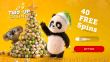 Two-up Casino 40 FREE Xmas Spins on RTG Panda's Gold