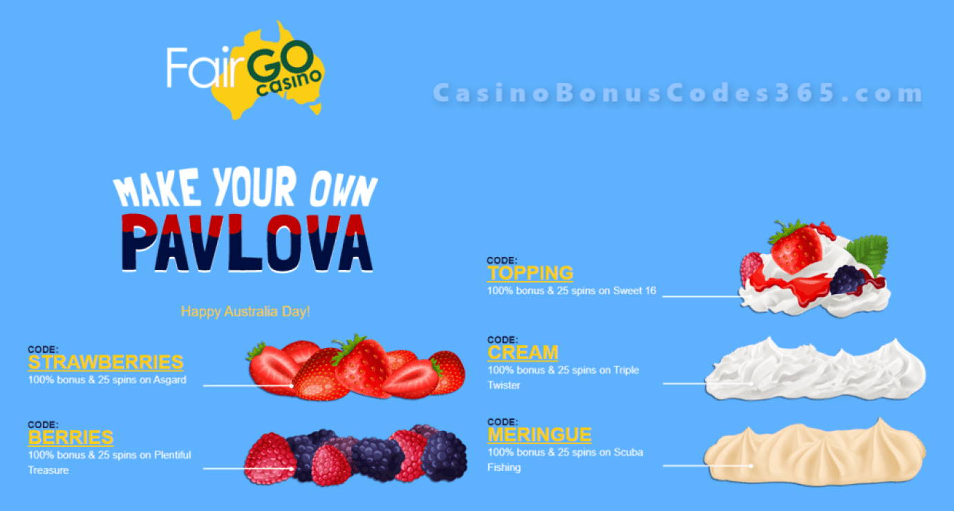 Fair Go Casino Australia Day Make your own Pavlova