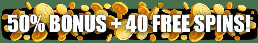 Omni Slots Golden Sunday 50% Match Bonus plus 40 FREE Spins