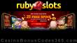 RubySlots 25 FREE Spins on RTG Plentiful Treasure Special No Deposit Offer