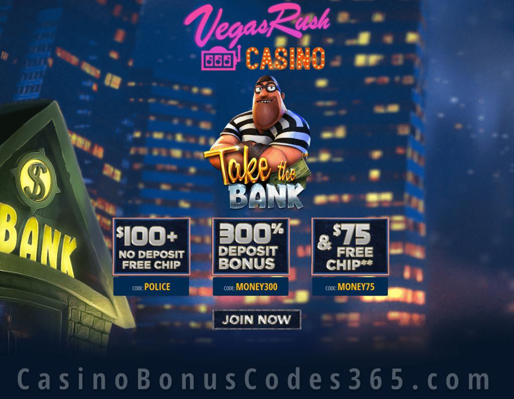 Vegas Rush Casino Take The Bank January 2020 Special Deal Casino