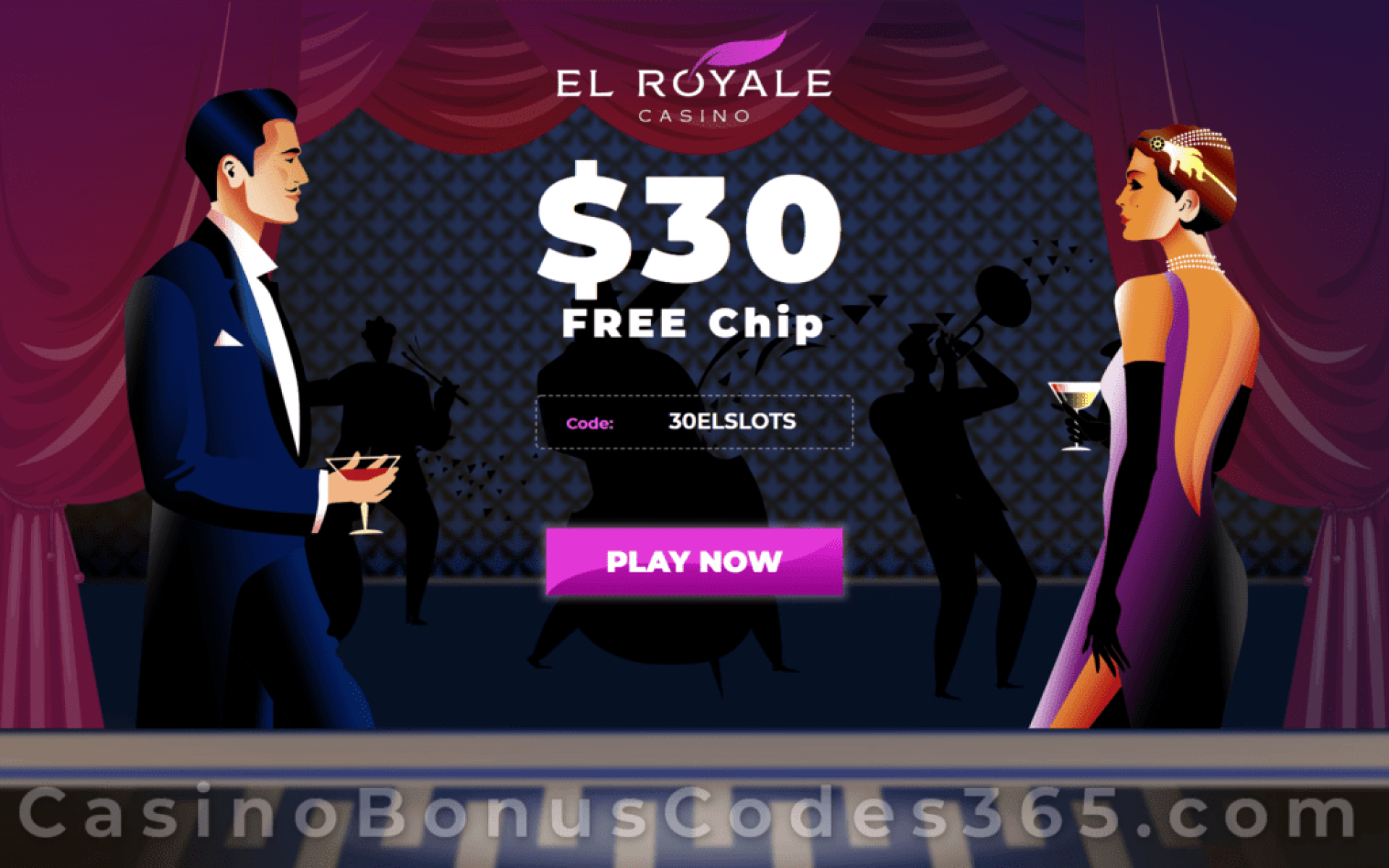 El Royale Casino $30 FREE Chip Welcome Deal