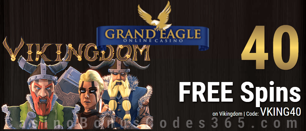Grand Eagle Casino Exclusive 50 FREE Spins on Saucify Vikingdom Special Deal