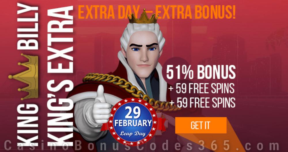 King Billy Casino King's Leap Day Bonus Legacy of Dead