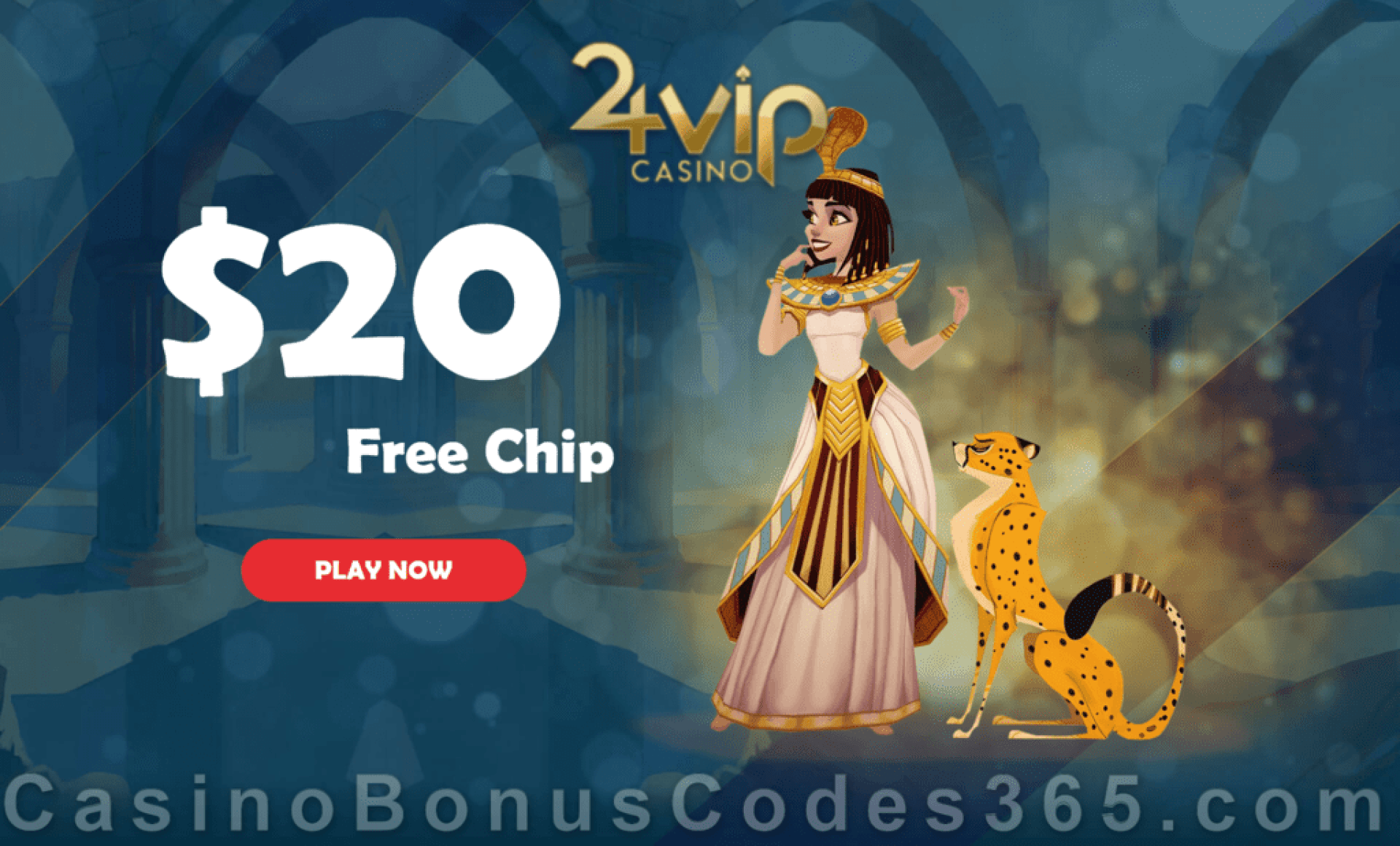 24VIP Casino $20 FREE Chips Special No Deposit Promo