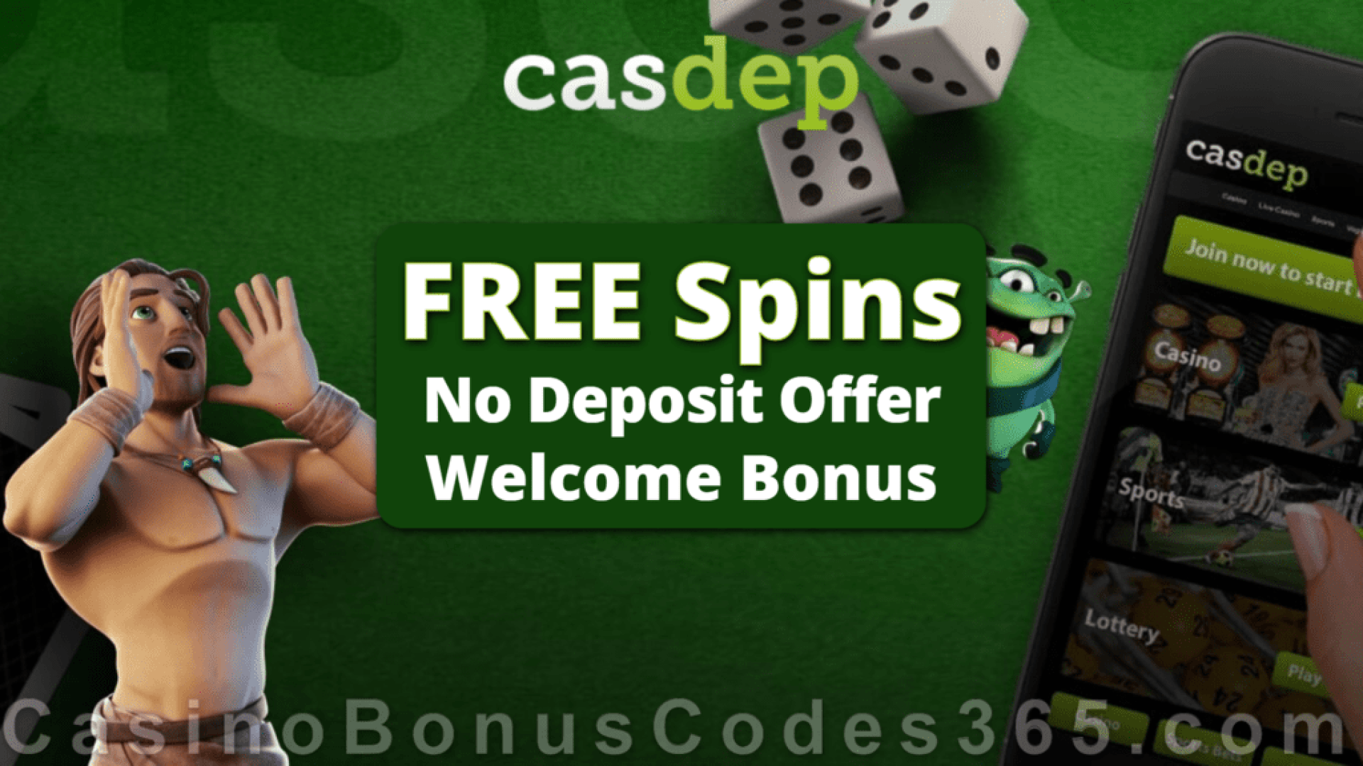 Casdep Casino No Deposit Welcome FREE Spins