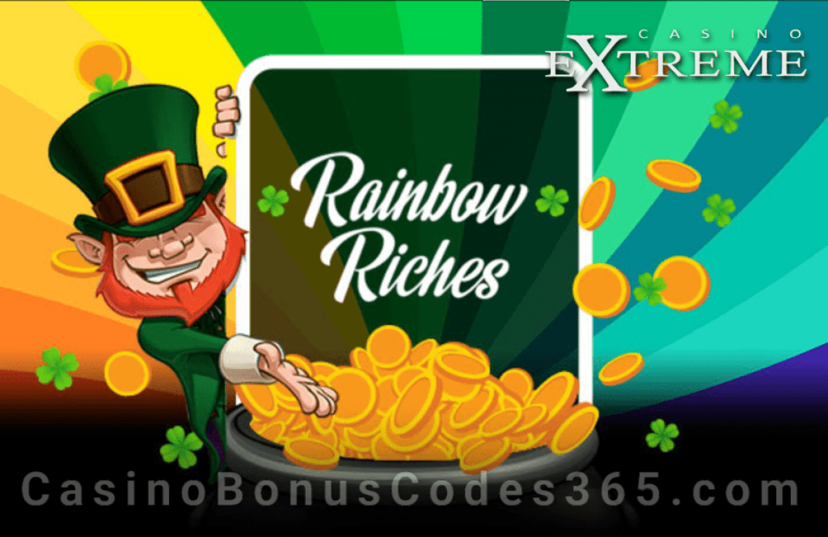 Casino Extreme Rainbow Riches St. Patrick's Day 2020 Special Promo