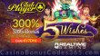Club Player Casino 300% Match Slots Bonus RTG 5 Wishes