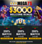 Mega7s Casino $3000 plus 77 FREE RTG Kung Fu Rooster Spins Welcome Package