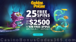 Golden Pokies 25 FREE Spins and $2500 Bonus plus 100 FREE Spins Welcome Package