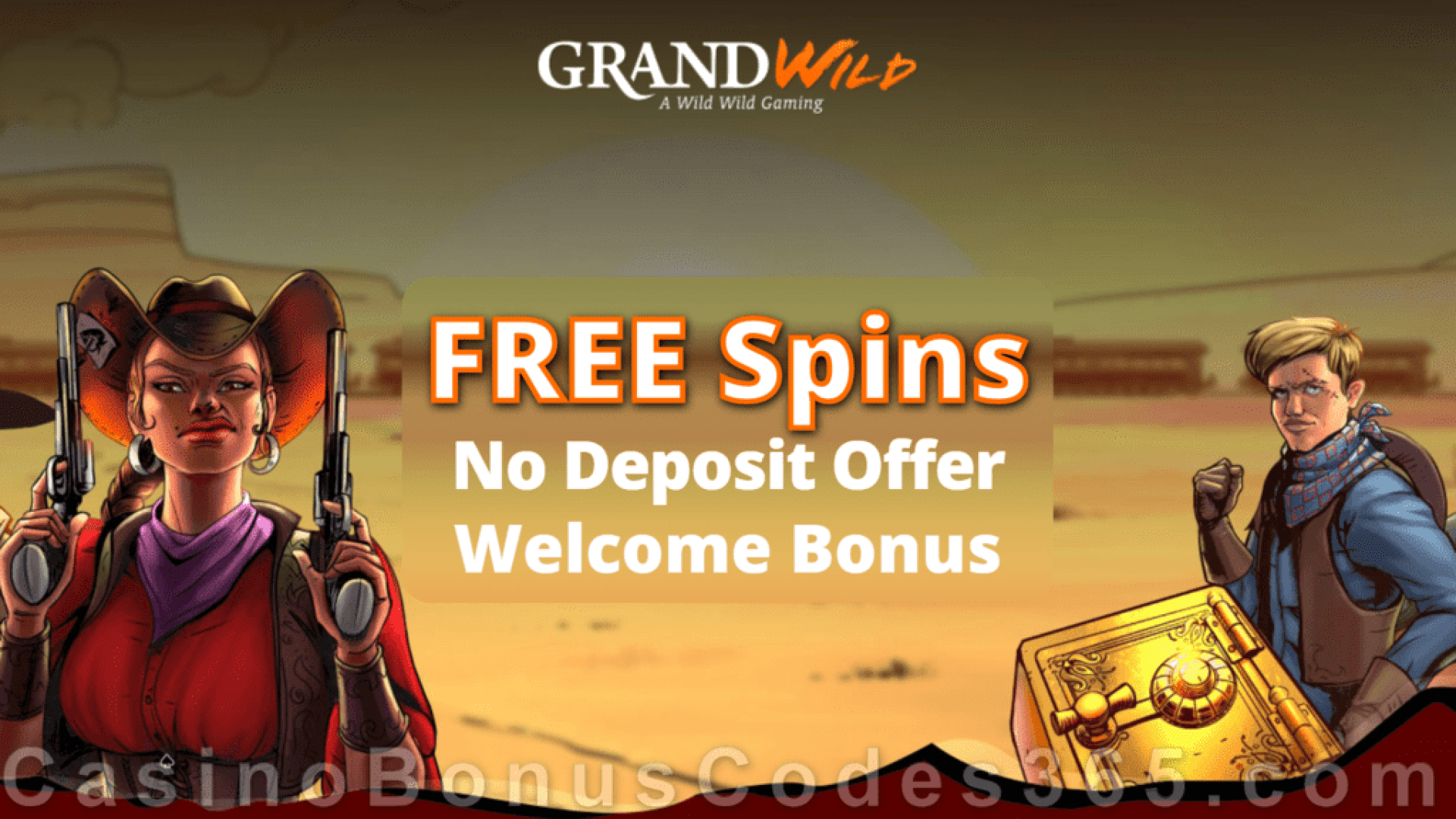 GrandWild Casino Welcome FREE Spins Offer