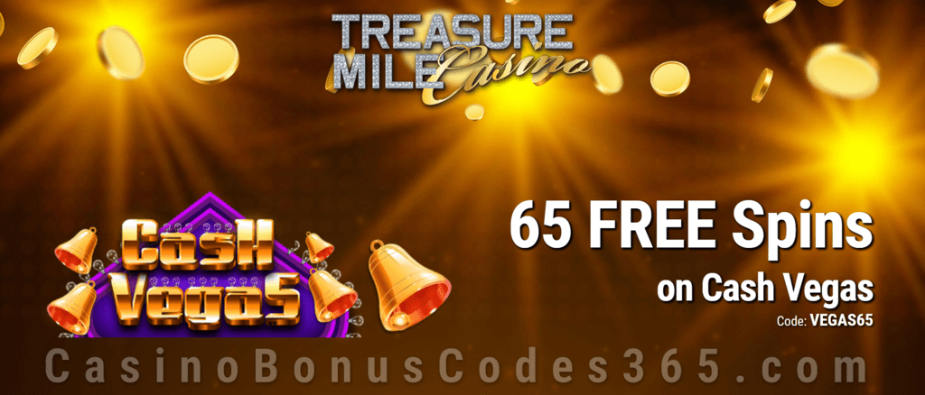 Treasure Mile Casino 65 FREE Saucify Cash Vegas Spins Special No Deposit Deal