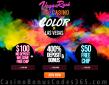 Vegas Rush Casino Color in Las Vegas $150 FREE Chip plus 400% Match Special Bonus Pack