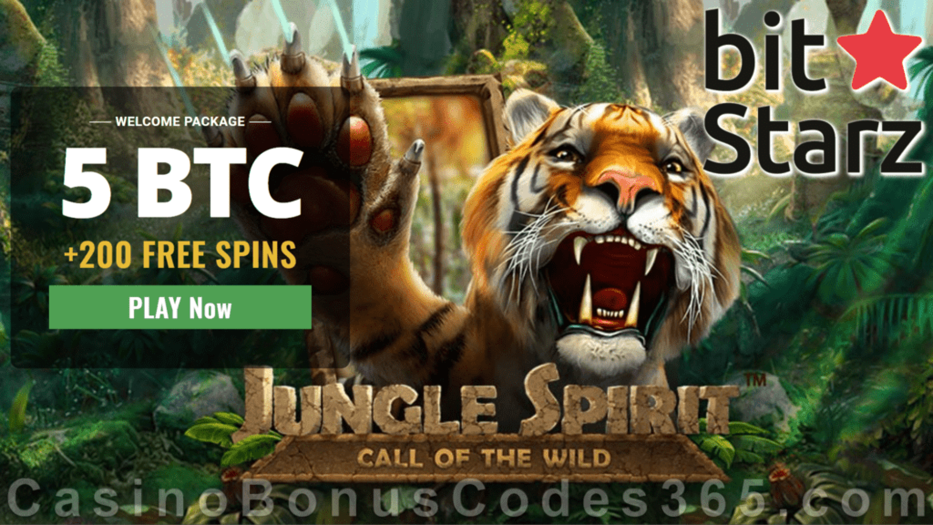 Bitstarz Casino 5 BTC plus 200 FREE Spins Welcome Deal Jungle Spirit Call of the Wild