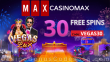 Casino Max New RTG Game Vegas Lux 30 FREE Spins Special Deal