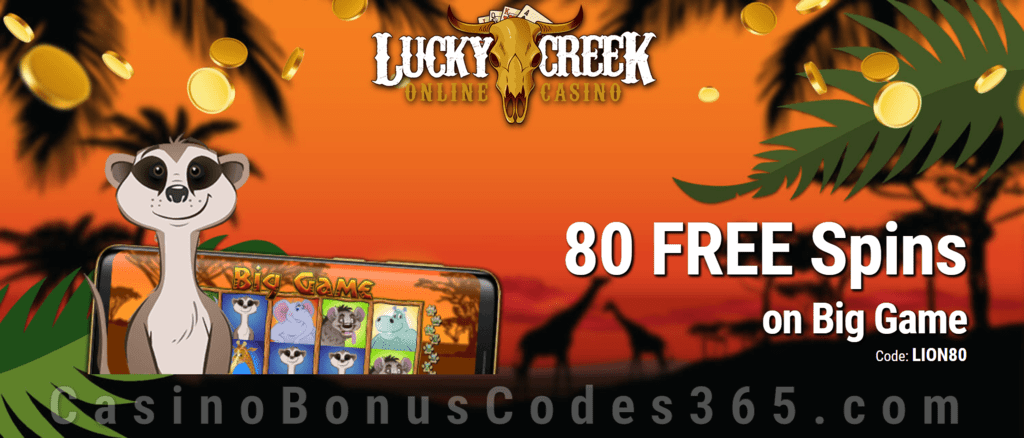 Lucky Creek 80 FREE Spins on Saucify Big Game Exclusive Promo