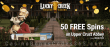 Lucky Creek 50 FREE Upper Crust Abbey Spins Exclusive No Deposit Offer