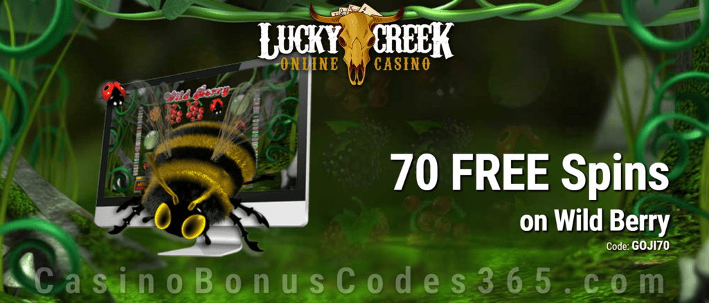 Lucky Creek 70 FREE Saucify Wild Berry Spins Exclusive Promo