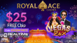 Royal Ace Casino $25 FREE Chip Special No Deposit Deal RTG Vegas Lux
