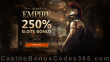 Slots Empire 250% Match Bonus New Players Sign Up Deal