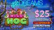 Dreams Casino $25 FREE Chip New RTG Game Wild Hog Luau No Deposit Promo