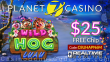 Planet 7 Casino New RTG Game Wild Hog Luau Special $25 FREE Chip No Deposit Deal