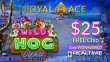 Royal Ace Casino Special New RTG Game Wild Hog Luau $25 FREE Chip Special Offer
