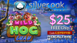 Silver Oak Online Casino Wild Hog Luau New RTG Game $25 FREE Chip Pre Launch Special Offer
