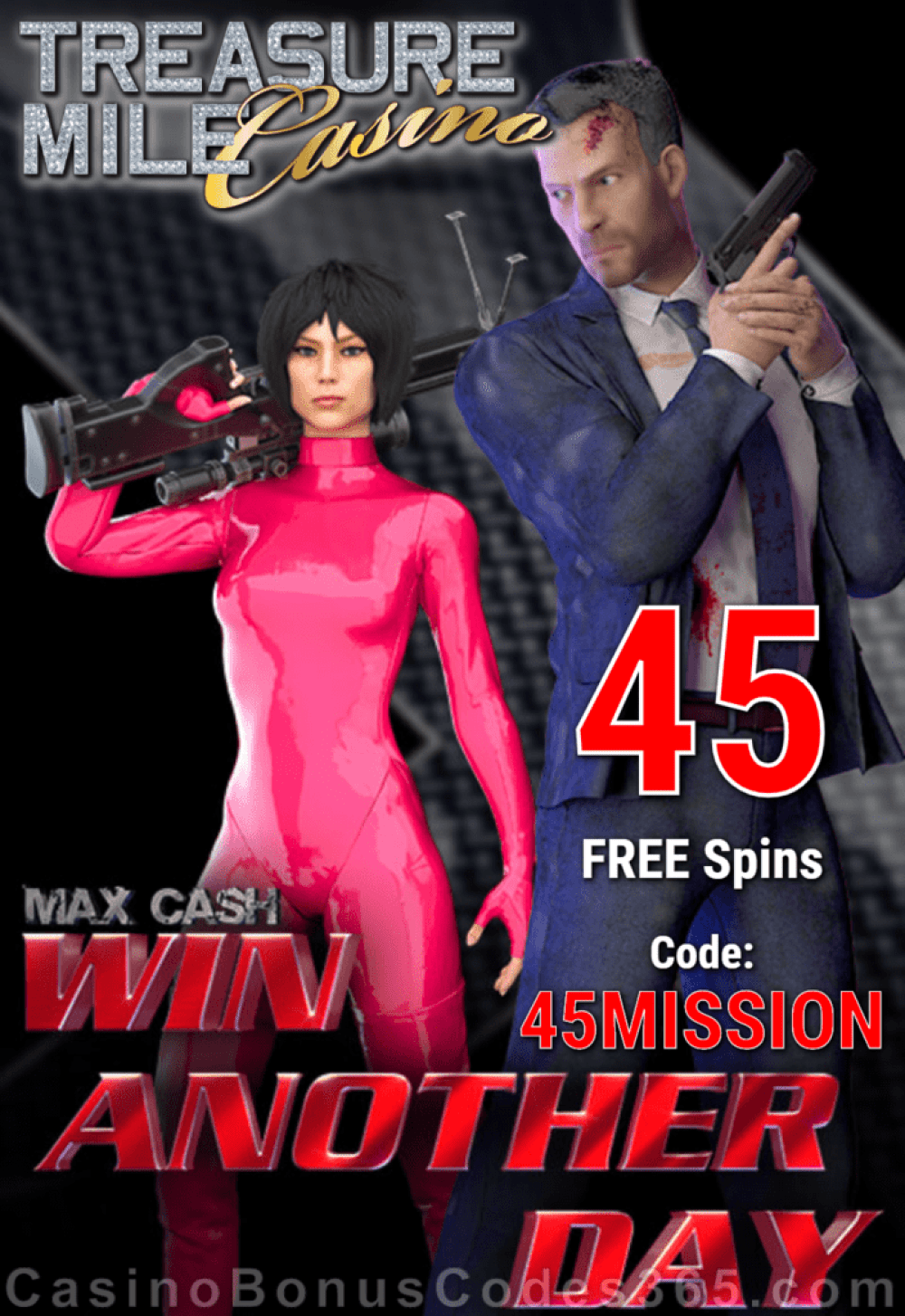 Treasure Mile Casino Exclusive 50 FREE Saucify Win Another Day Spins Special no Deposit Deal