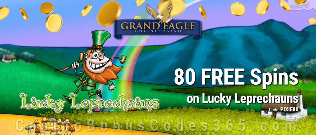 Grand Eagle Casino 80 FREE Saucify Lucky Leprechauns Spins Special No Deposit Offer